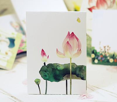 연꽃 캐릭터 메모지(4종 택1) / 불교용품,기념품