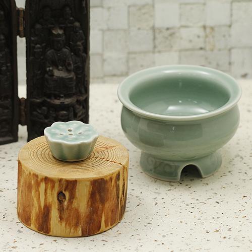 향로小(청자)/ 불교용품,제사용품,향,향꽂이,촛대