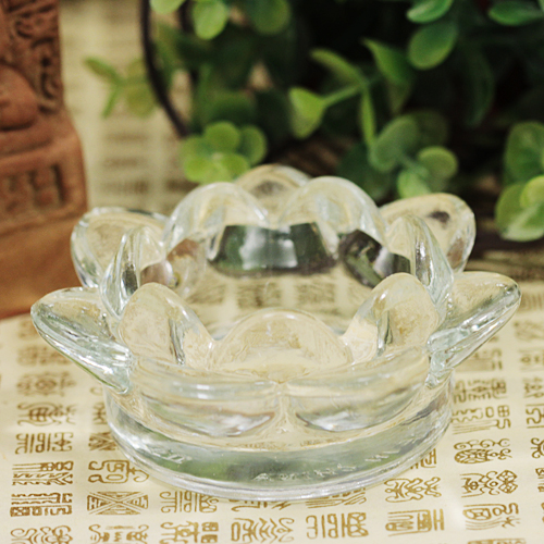 [삼환양초] 크리스탈 PC컵 양초받침(2개) /불교용품