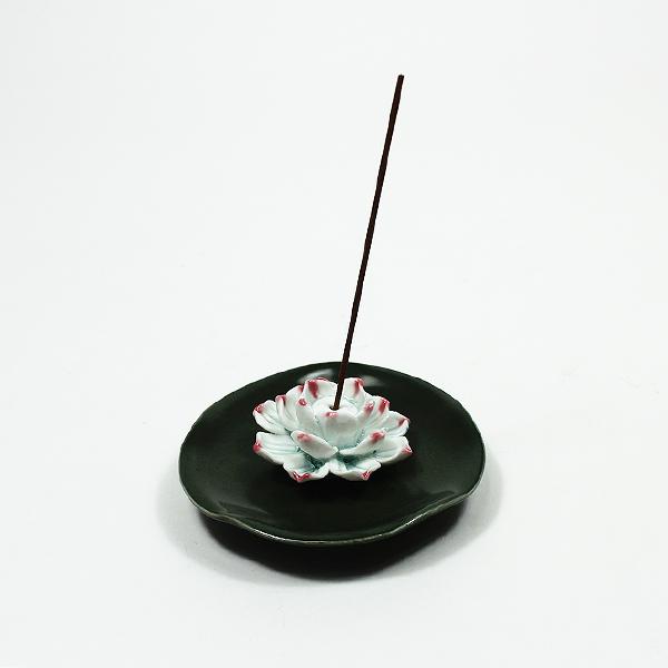 도자기 연꽃 향꽂이 (소) - 녹색