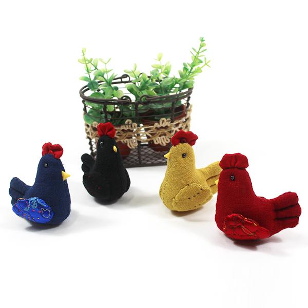 [핸드메이드] 손바느질 닭 인형 (4종 택1) - 정유년 붉은 닭의 해 기념